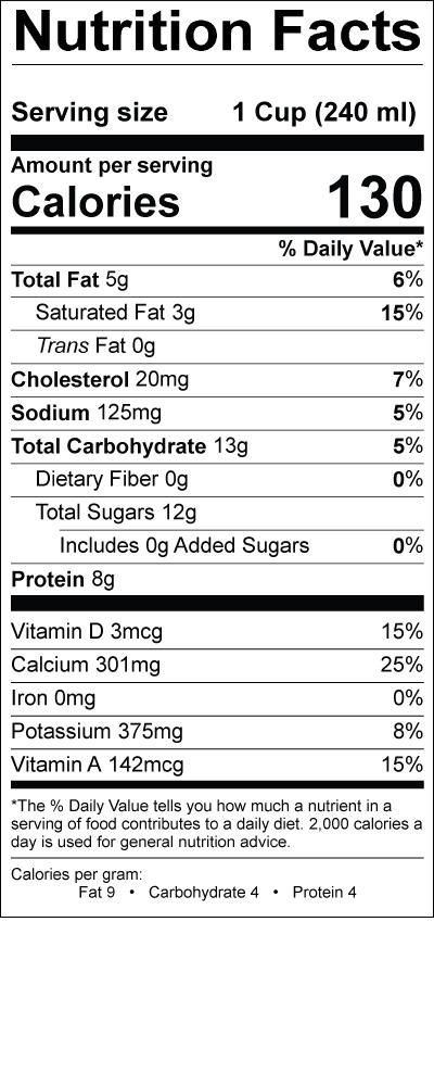 Reduced Fat Milk Smith Dairy