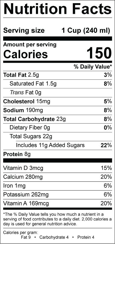 Chocolate Low Fat Milk » Smith Dairy
