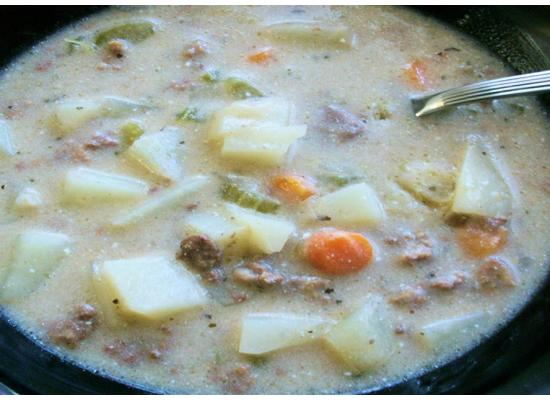 Beefed Up Potato Soup smiths foods