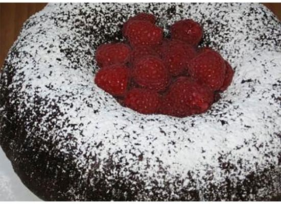 Chocolate Raspberry Avalanche Cake with Melted Vanilla Bean Creme Anglaise Recipe Smiths Foods