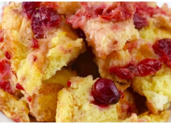 Cranberry White Chocolate Bread Pudding with Balsamic Cranberry Orange Sauce Recipe Smiths Foods