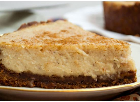 Ginger snap Eggnog Cheese cake Recipe Smiths Foods