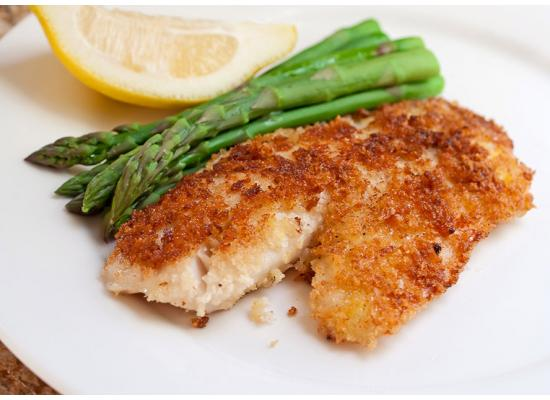 Herb Oven Fried Fish Fillets