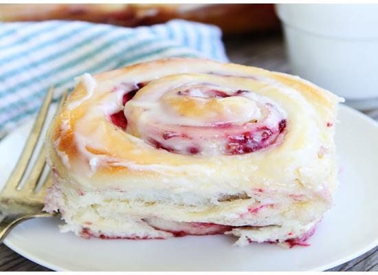 Holiday Red Raspberry Cream Rolls smiths foods