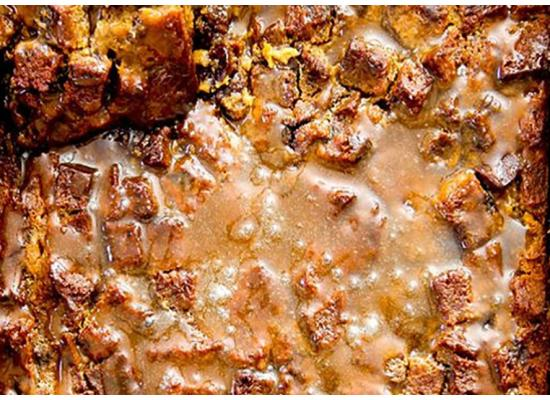 Pumpkin Eggnog Bread Pudding with Salted Maple Toffee Sauce Recipe Smiths Foods