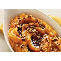 Sweet Potato Orange Mousse with Cinnamon Fig Balsamic Reduction and Hazelnuts