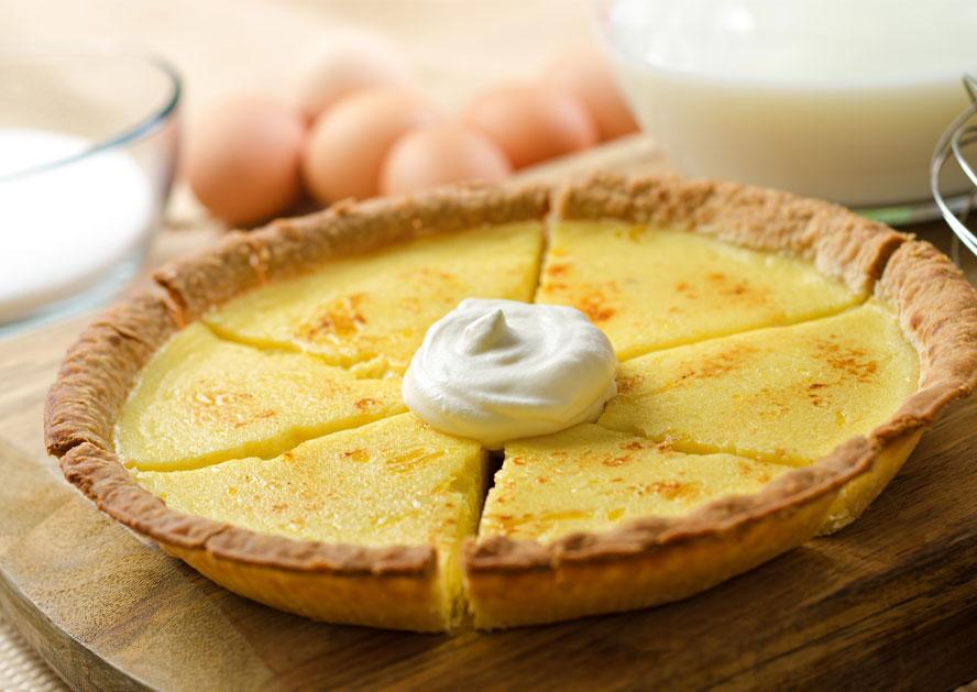Eggnog Custard Pie Recipe From Smith S Smith Dairy